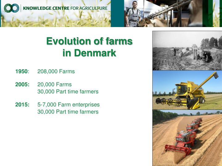 Evolution of farms
