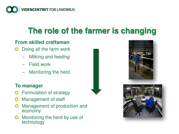 The role of the farmer is changing