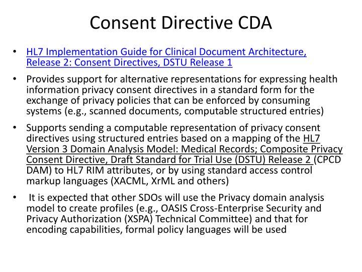 Consent Directive CDA