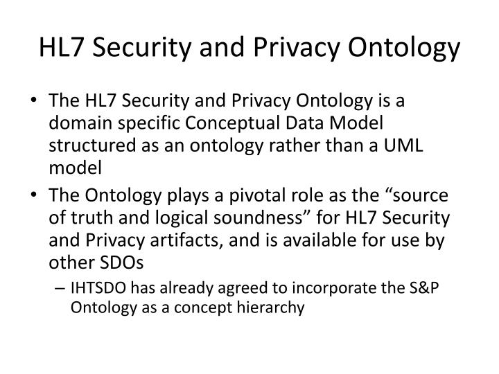 Hl7 security and privacy ontology