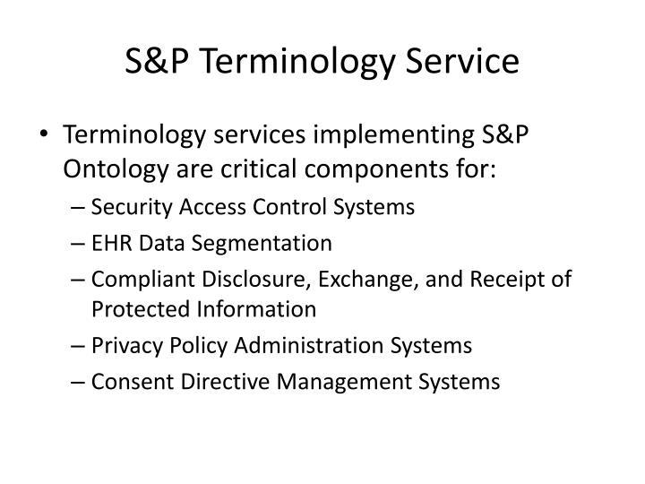 S&P Terminology Service