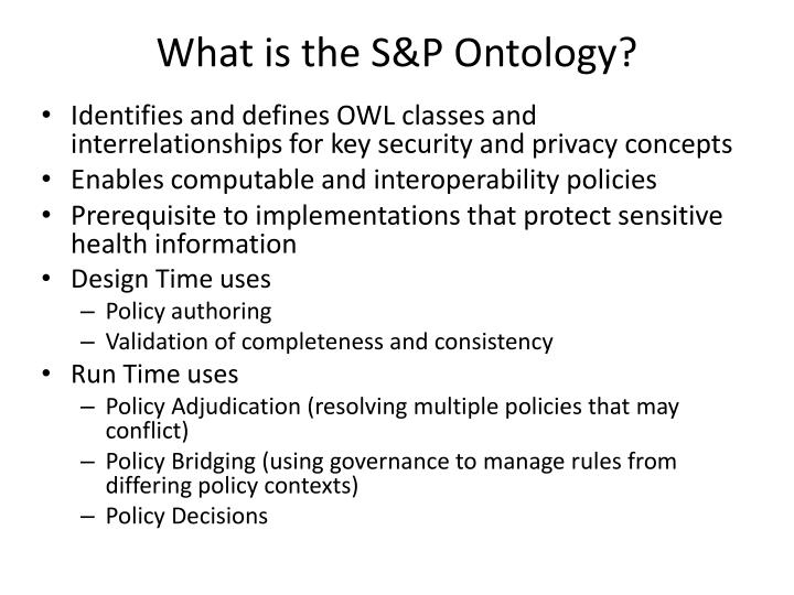 What is the S&P Ontology?