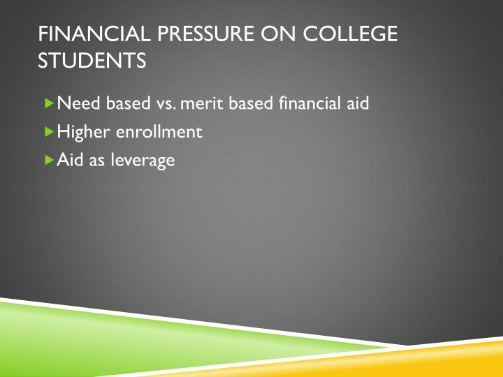 Financial pressure on college students