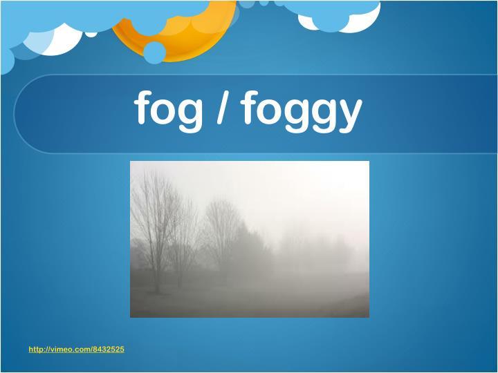 fog / foggy