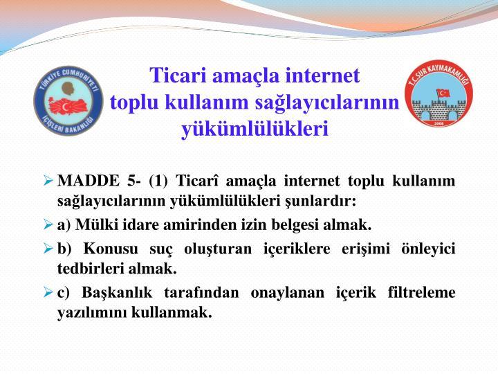 Ticari amaçla internet