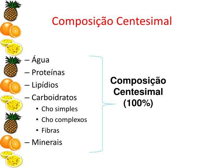 Composição Centesimal