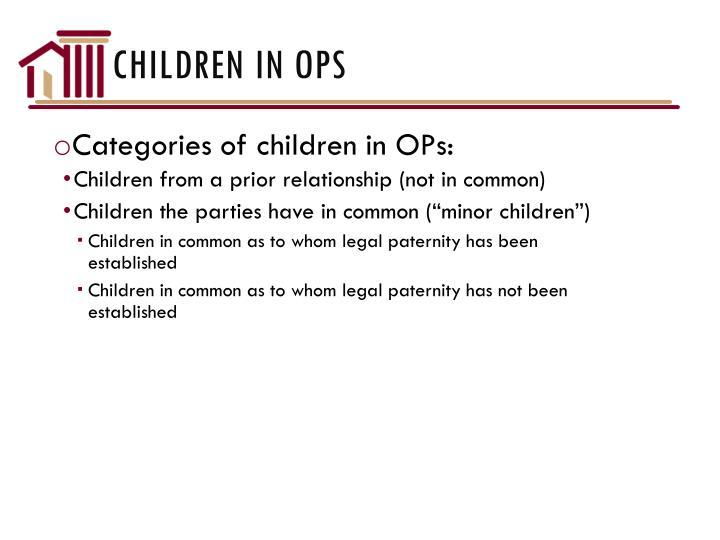 Children in OPs