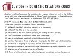 custody in domestic relations court