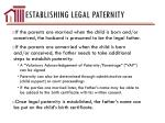 establishing legal paternity