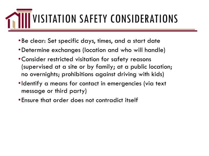 Visitation Safety Considerations