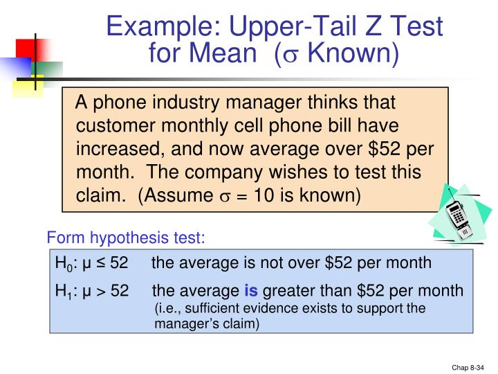 Example: Upper-Tail Z Test