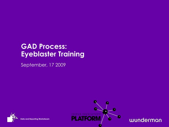 Gad process eyeblaster training