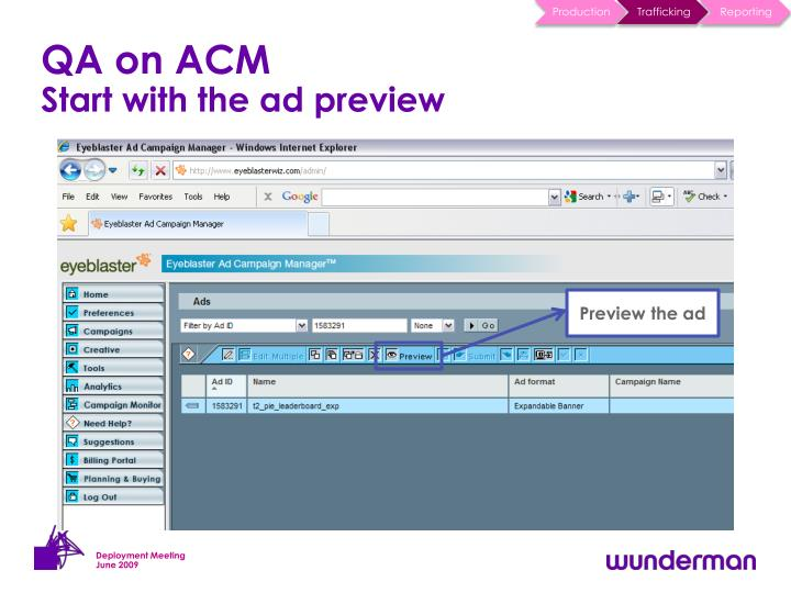 QA on ACM