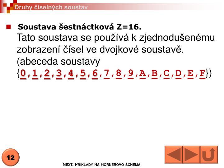 Druhy číselných soustav