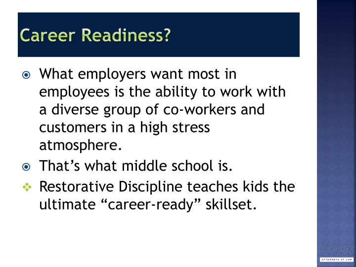 Career Readiness?