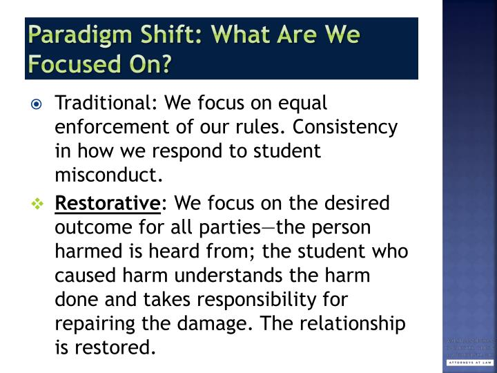 Paradigm Shift: What Are We Focused On?