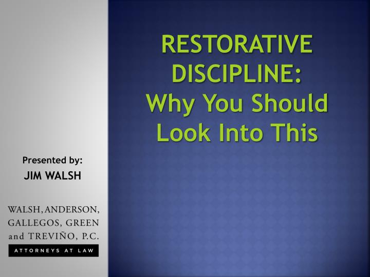 Restorative discipline why you should look into this