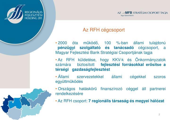 Az RFH cégcsoport