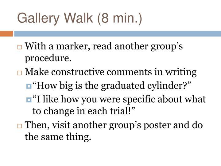 Gallery Walk (8 min.)
