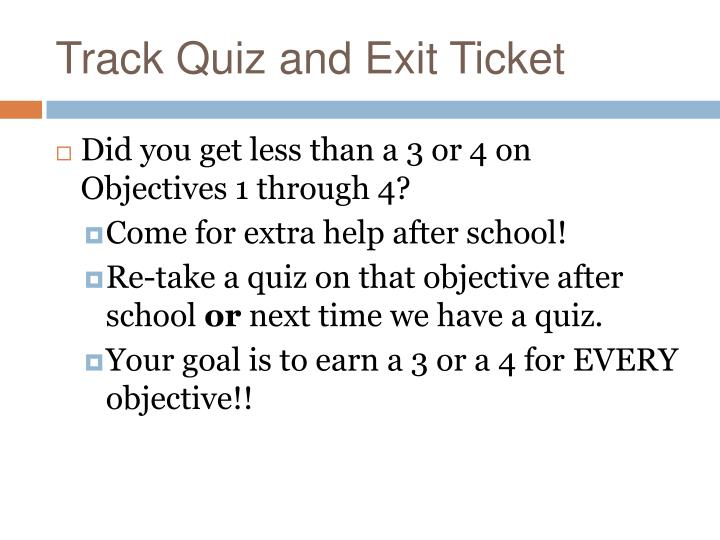 Track Quiz and Exit Ticket