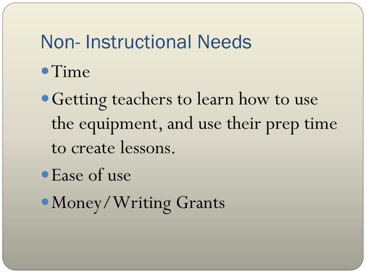 Non- Instructional Needs