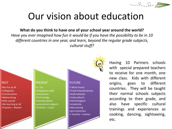 Our vision about education