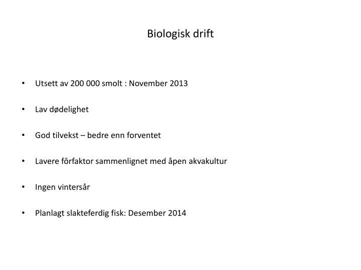Biologisk drift