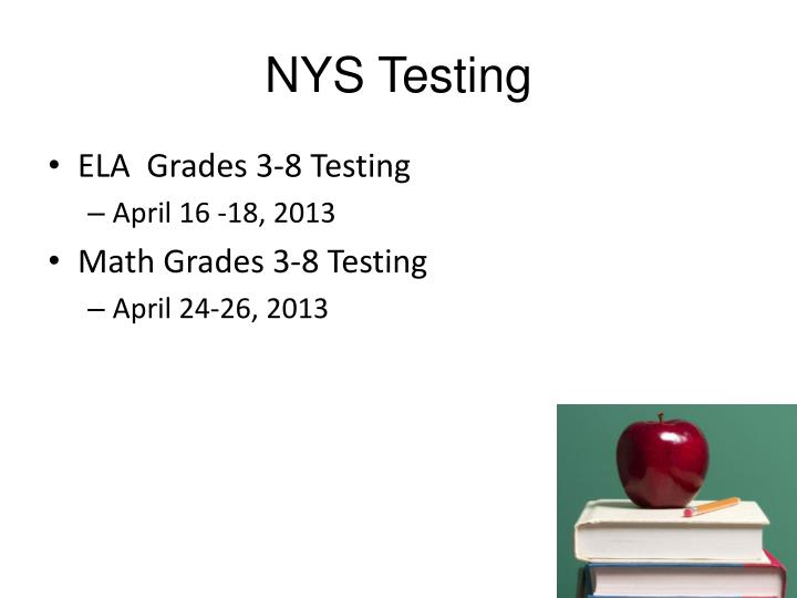 NYS Testing