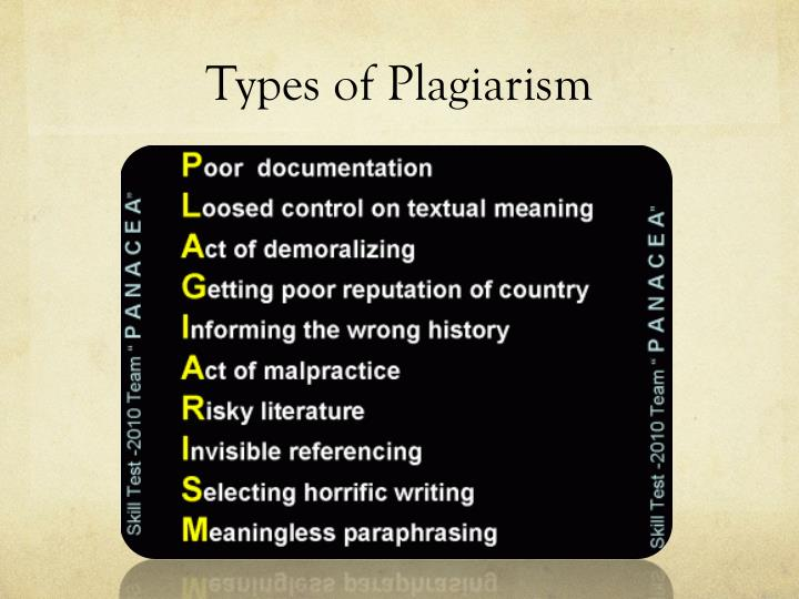 a definition of plagiarism and its types Benchmarking: definition, types and its successful performance definition of benchmarking: benchmarking is the continuous process of.