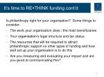 it s time to re think funding cont d