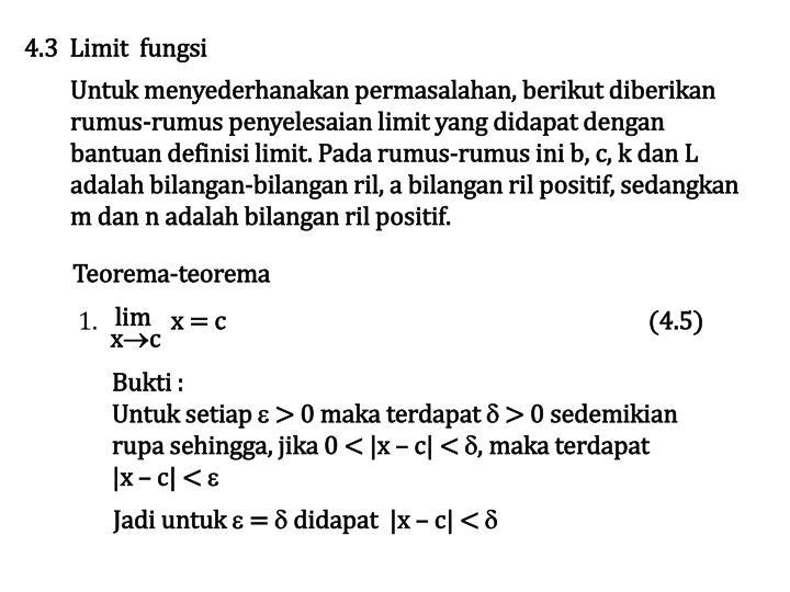 4.3  Limit