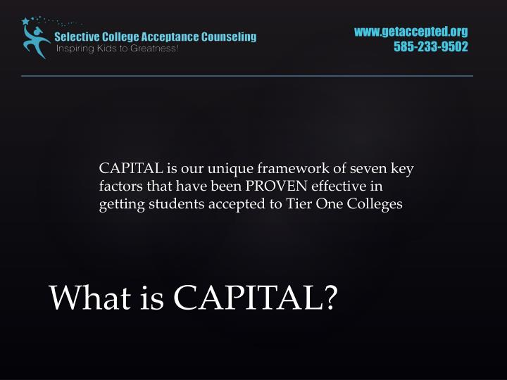 What is capital