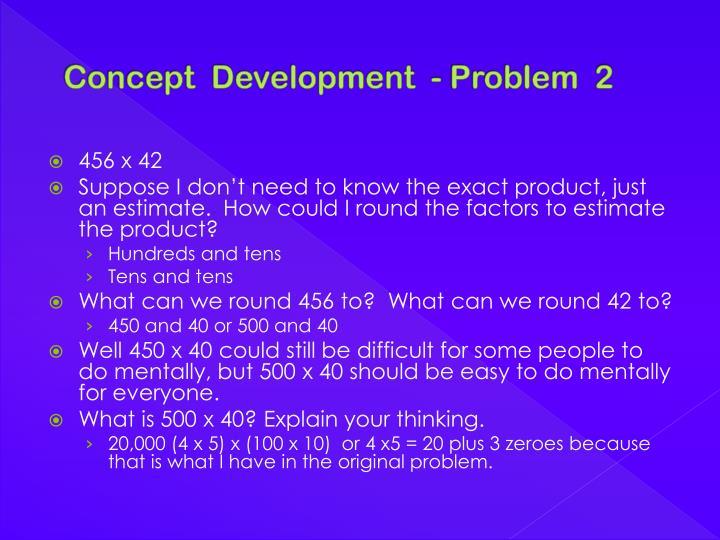 Concept  Development  - Problem