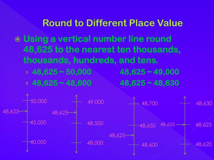 Round to different place value