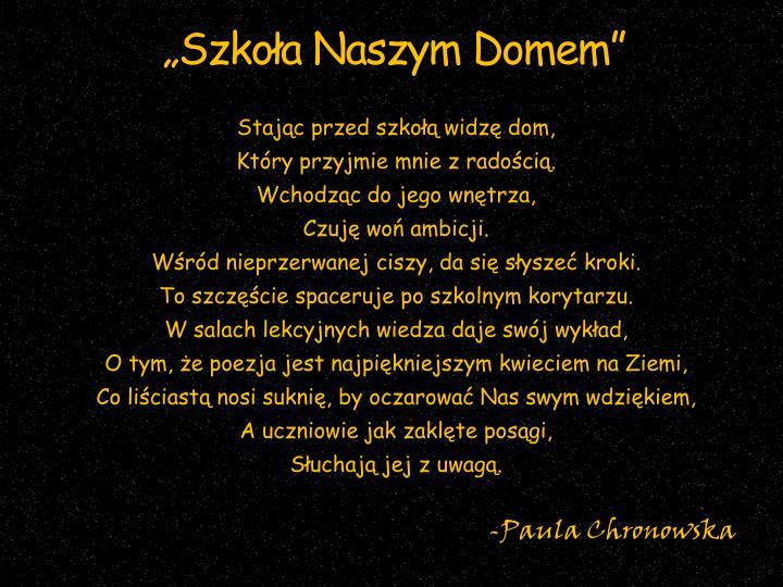 """""""Szkoła Naszym Domem"""""""