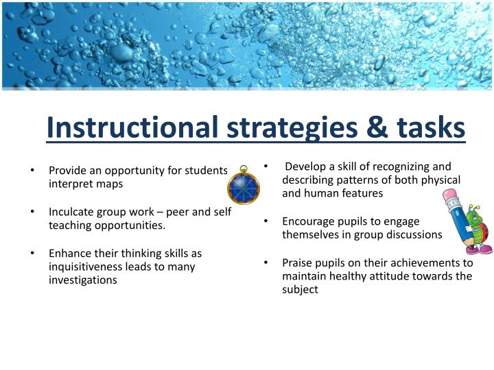 Instructional strategies & tasks