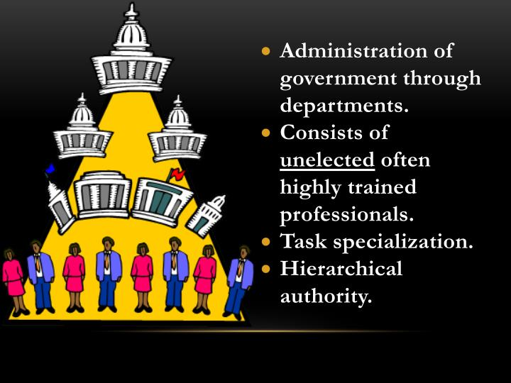 Administration of government through