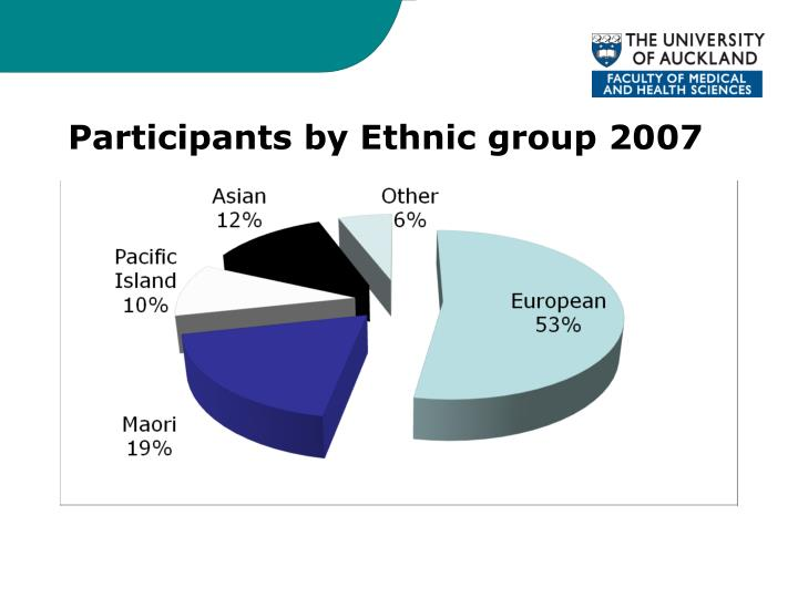 Participants by Ethnic group 2007