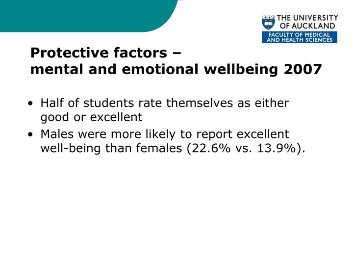 Protective factors –