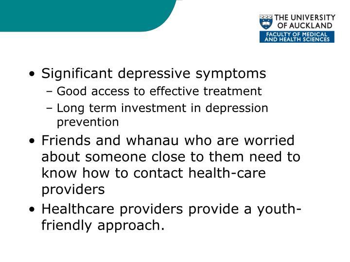 Significant depressive symptoms