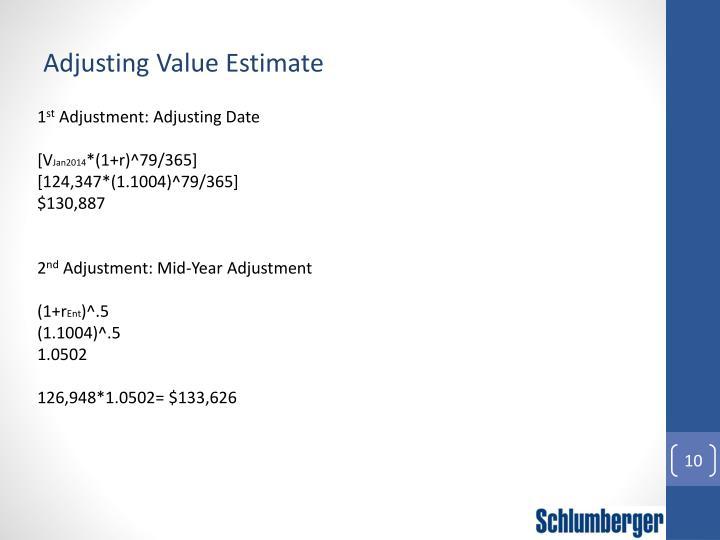 Adjusting Value Estimate