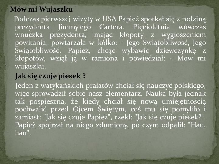 Mów mi Wujaszku