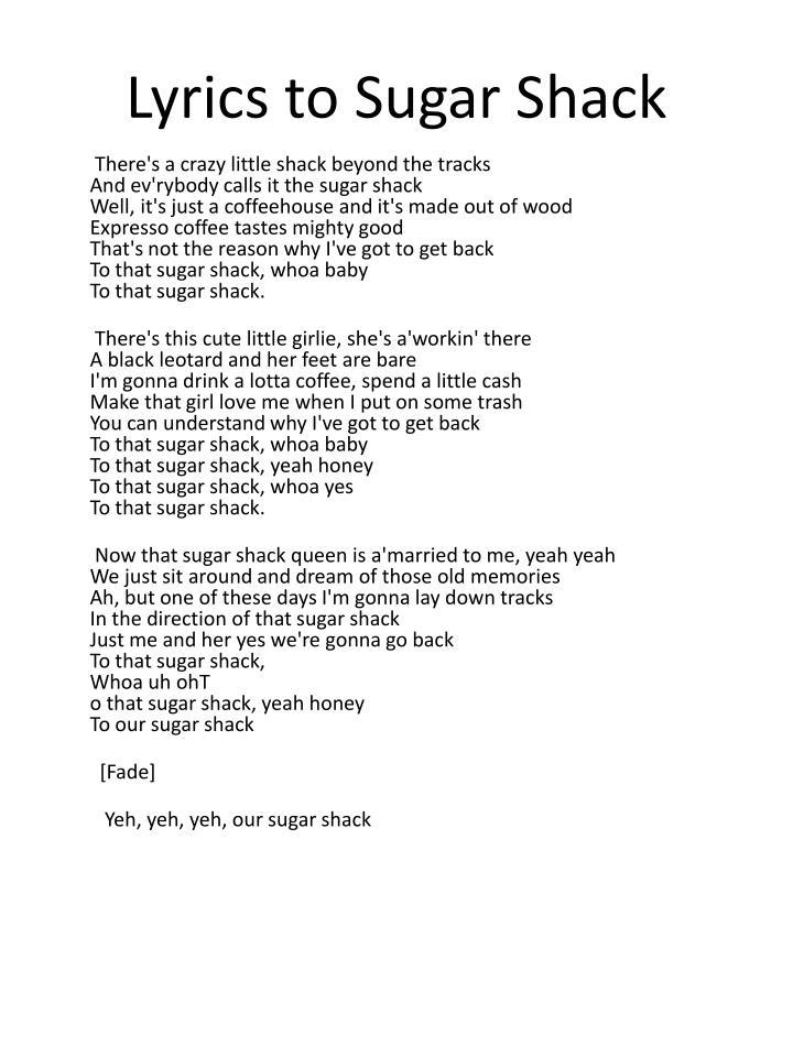 Lyrics to