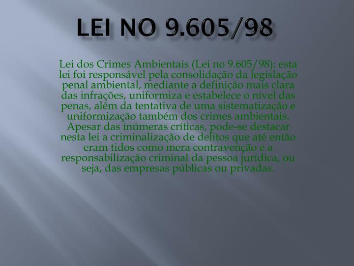 Lei no 9.605/98