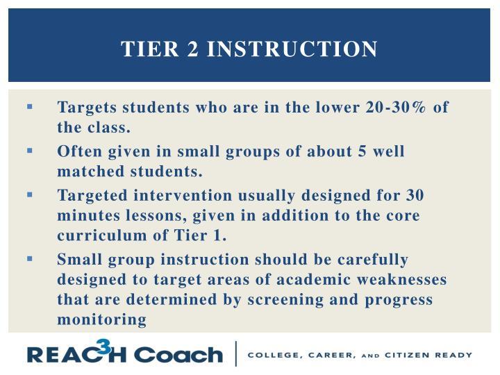 Tier 2 Instruction