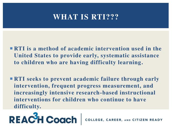 What is RTI???