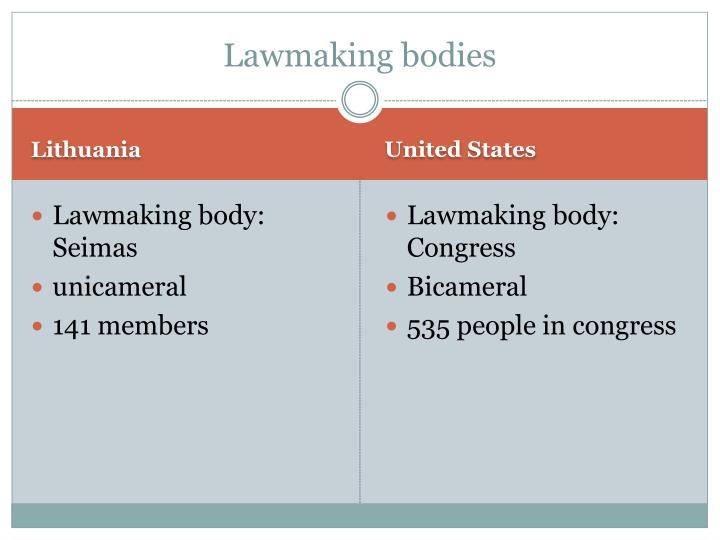 Lawmaking bodies