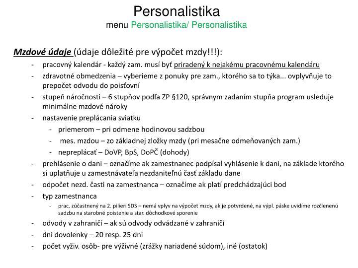 Personalistika
