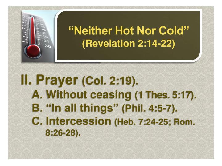 II. Prayer