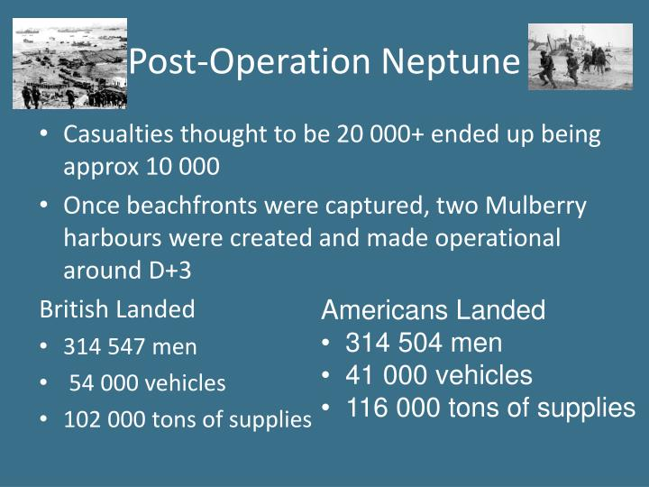 Post-Operation Neptune